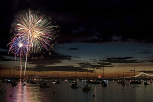 Fireworks in Narragansett Bay